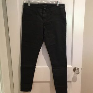 Banana Republic - Black coated denim jeans
